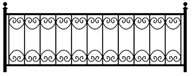 Газонная ограда О-25 во Всеволожске