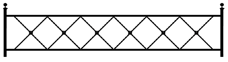 Газонная ограда О-4 во Всеволожске