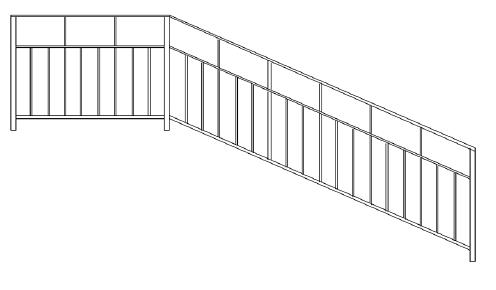 Перила для дома во Всеволожске (П-8)