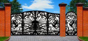 Ворота и двери с элементами лазерной резки
