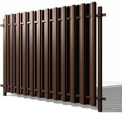 Забор из металлического штакетника во Всеволожске